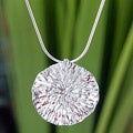Sterling Silver 'Lotus Leaf' Necklace (Thailand)