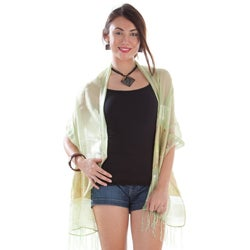 Elegant Light Green Silky Scarf (Indonesia)