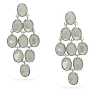Gioelli Sterling Silver Mother of Pearl Chandelier Earrings