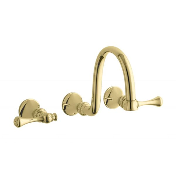 Kohler Brass Faucets Bathroom : ... Brass Iv Georges Brass Widespread Lavatory Faucet With Lever Handles
