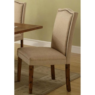 Jonquil Nail Head Trim Beige Dinning Chairs (Set of 2)