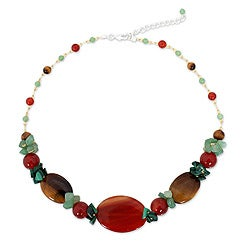 Handcrafted Multi-gemstone 'Thai Harmony' Necklace (Thailand)