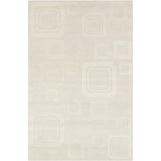 Hand-tufted Allie Geometric Beige Wool Rug (5' x 7'6)