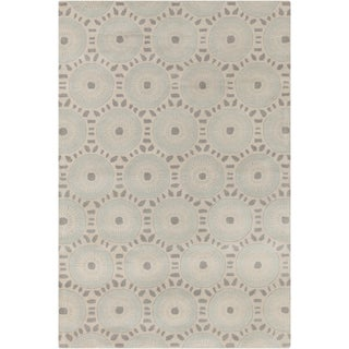 Hand-tufted Allie Geometric Cream/ Grey Wool Rug (5' x 7'6)