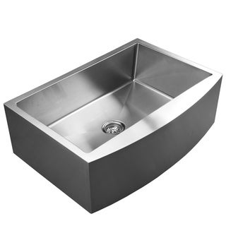 Ukinox RSFC849 Apron Front Single Basin Stainless Steel Undermount Kitchen Sink