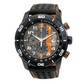 Citizen Men's Eco-Drive 'Primo' Black/ Orange Chronograph Watch