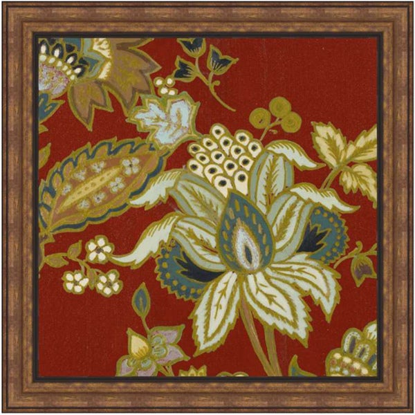 Lanie Loreth 'Red European Floral II' Framed Print