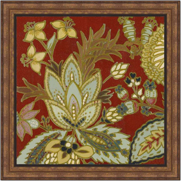 Lanie Loreth 'Red European Floral I' Framed Print