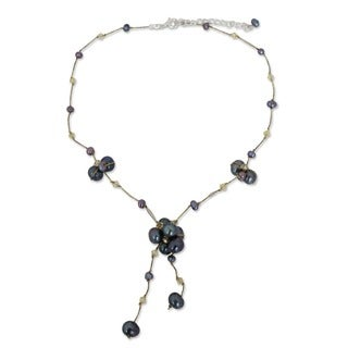 Handcrafted Pearl 'Mist Queen' Necklace (4-7 mm) (Thailand)