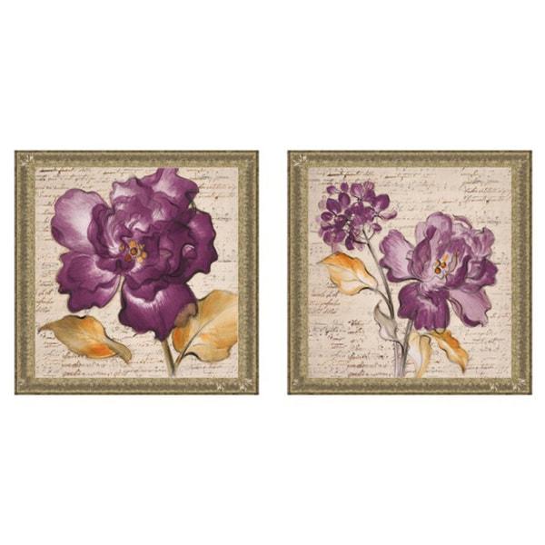 Lanie Loreth 'Lilac Beauty I & II' Framed Print