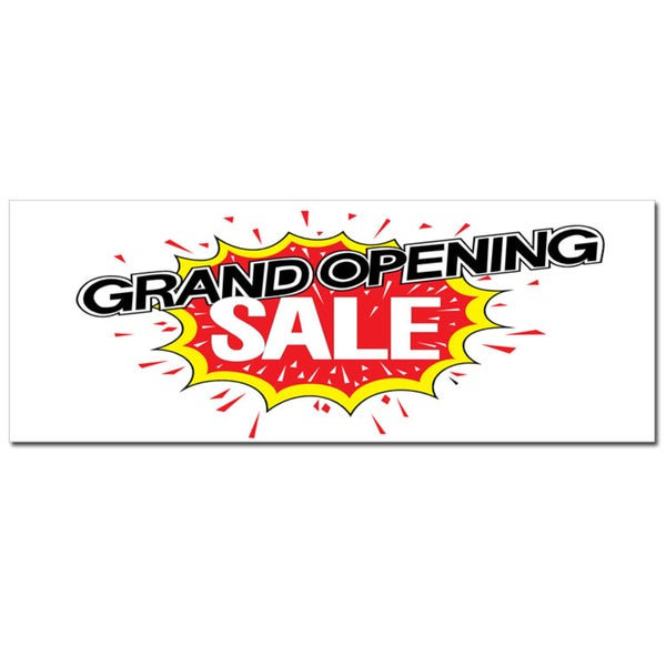 Exlposive Grand Opening Sale Vinyl Advertising Sign