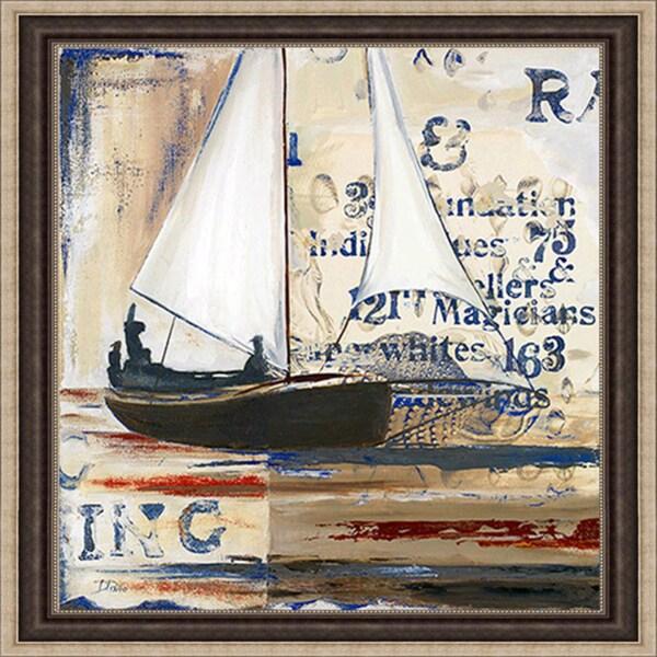 Patricia Pinto 'Blue Sailing Race I' Framed Print