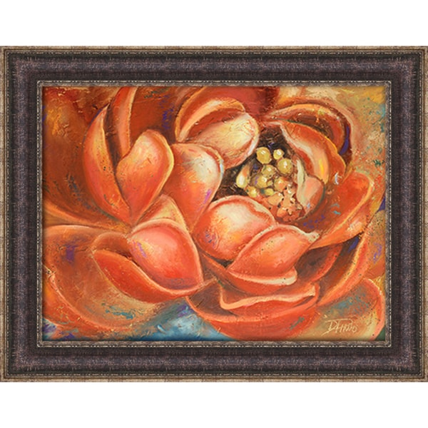 Patricia Pinto 'Red Lotus I' Framed Art Print
