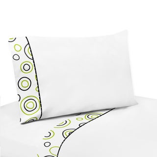 Sweet JoJo Designs 200 Thread Count Spirodot Bedding Collection 4-piece Sheet Set