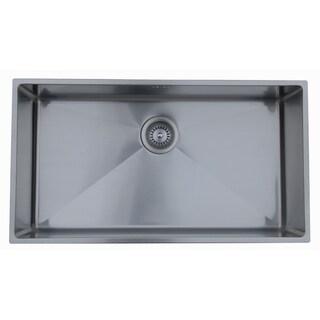 Ukinox RS838 Single Basin Stainless Steel Undermount Kitchen Sink