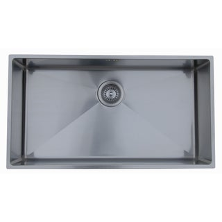 Ukinox RS838 Single Basin Stainless Steel Undermount Kitchen Sink