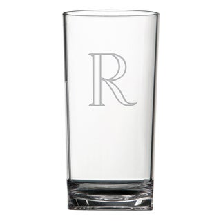 Monogrammed Acrylic Hiball Glasses (Set of 4)