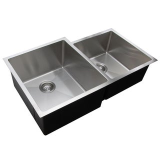 Ukinox RS420.60.40.10R 60/40 Double Basin Stainless Steel Undermount Kitchen Sink