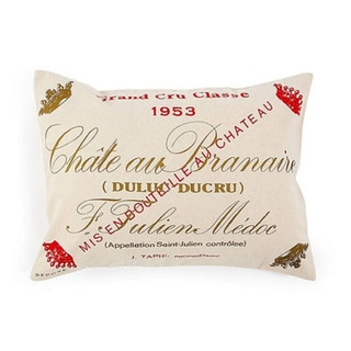 Chateau Branaire Wine Decorative Pillow
