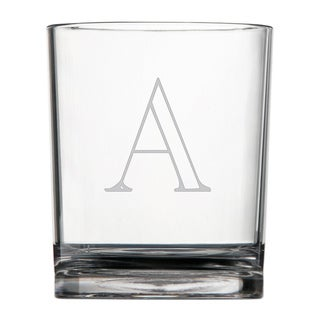 Monogrammed Acrylic Double Rocks Glasses (Set of 4)