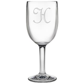 Monogrammed Acrylic Wine Glasses (Set of 4)