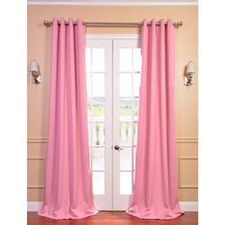 Precious Pink Grommet Blackout Thermal Curtain Panel Pair