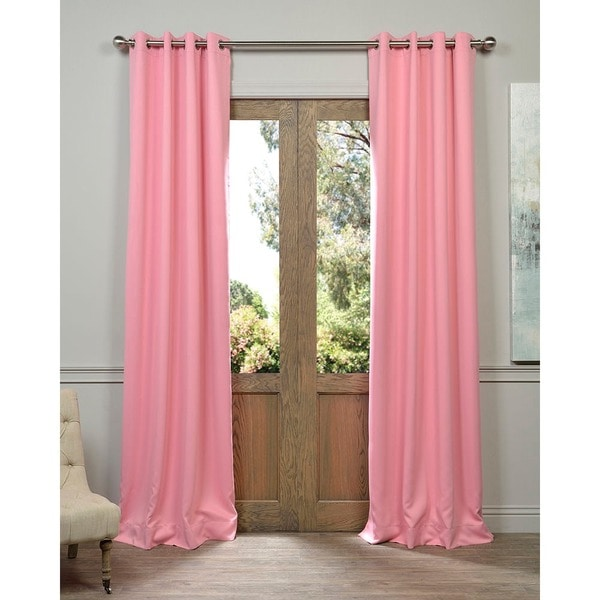 EFF Precious Pink Grommet Blackout Thermal Curtain Panel Pair