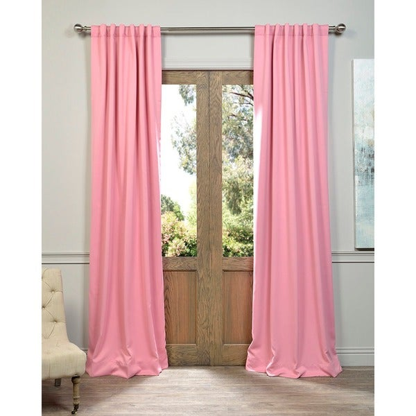 Precious Pink Blackout Thermal Curtain Panel Pair