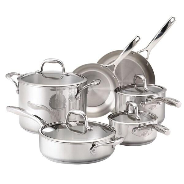 Guy Fieri Stainless Steel 10-piece Cookware Set