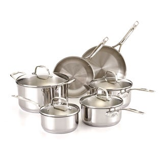 Guy Fieri Stainless Steel 10-piece Cookware Set