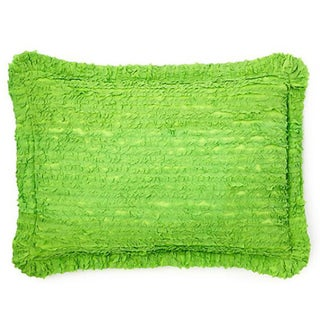 Pretty Ruffled Green Decorative Pillow