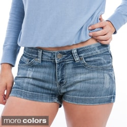 Stanzino Women's Plus Denim Mini Shorts