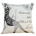 French Mademoiselle Cotton 20 x 20-inch Decorative Pillow