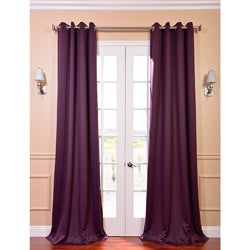 Grommet Blackout Thermal Aubergine Curtain Panels (Set of 2)