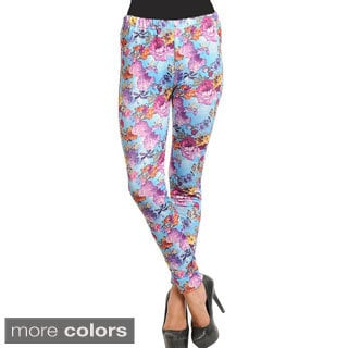 Stanzino Women's One Size Floral Leggings