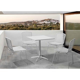 Big Wave White Outdoor Folding Square Table