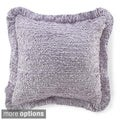 Ruffled Lavender Throw Pillow