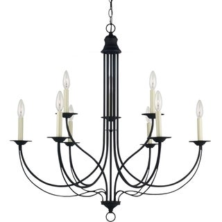 'Plymouth' Blacksmith 9-Light Multi-tiered Chandelier