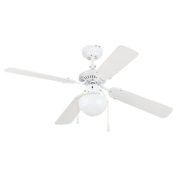 'Hatteras' 42-inch White Finished 1-light Ceiling Fan
