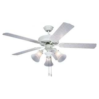 52-inch Floral Patterned 3-light Ceiling Fan