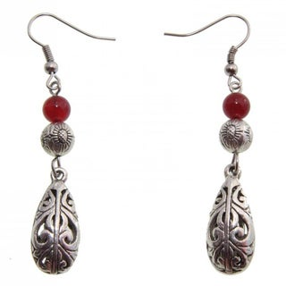 Handmade Filigree Raindrop Earrings (China)