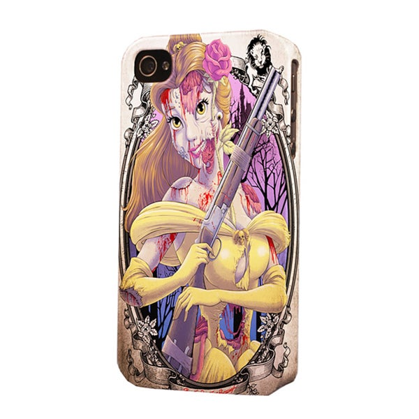 Plastic Beauty and the Beast Zombie Dimensional Apple iPhone Case