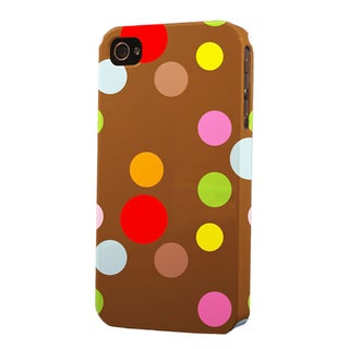 Plastic Polka Dot Dimensional Apple iPhone Case
