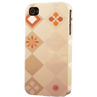 Plastic Brown Pattern Dimensional Apple iPhone Case