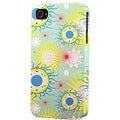 Plastic Yellow Blue Sunburst Dimensional Apple iPhone Case