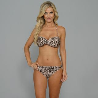 Antiqua Women's Cheetah Hipster 2-piece Bikini