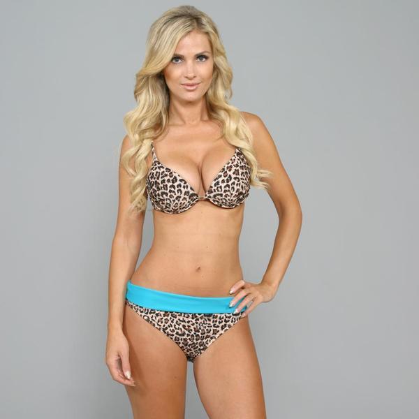 Antiqua Women's Cheetah U-wire 2-piece Bikini