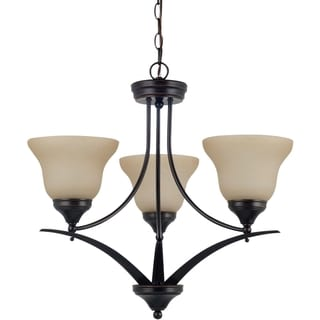 'Brockton' Burnt Sienna 3-Light Single Tier Chandelier