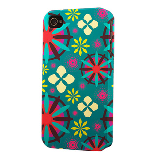 Plastic Starburst Dimensional Apple iPhone 4/4s/5 Case