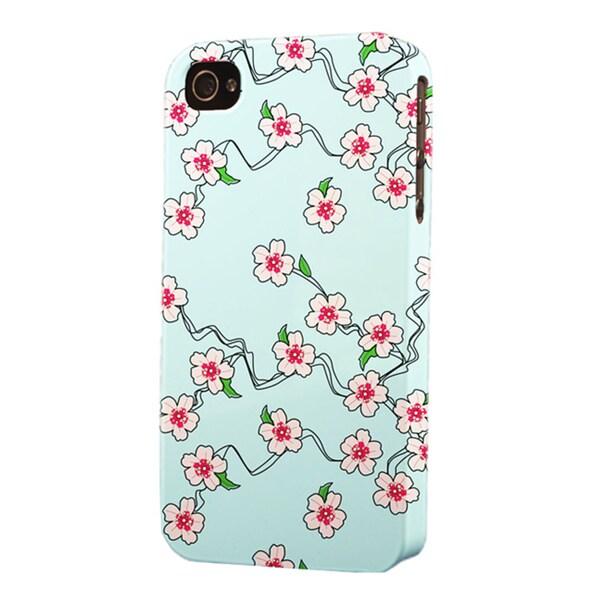 Plastic Pink Flower Dimensional Apple iPhone Case